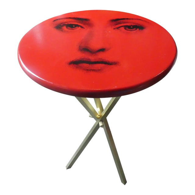 1970s Vintage Fornasetti Red Julia Side Table For Sale