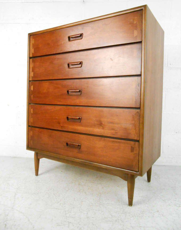 Lane Furniture Mid Century Modern Acclaim Highboy Dresser   Image 2 Of 8