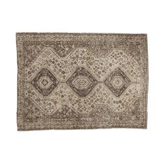 "Distressed Shiraz Carpet - 7'3"" x 9'10"""