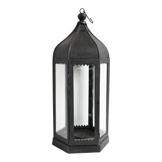 Moorish Dark Iron Lantern For Sale