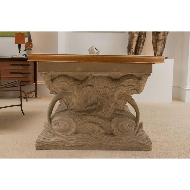 Hollywood Regency Maison Jansen Dolphin Motif Table For Sale - Image 3 of 13