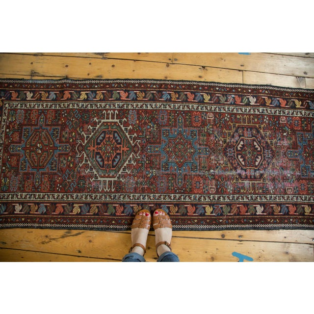 "Cottage Vintage Karaja Rug Runner - 2'9"" X 10'6"" For Sale - Image 3 of 10"
