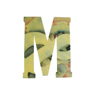 Jumbo Large Metal Marquee Letter M