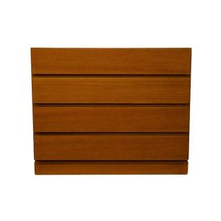 "House of Denmark Danish Modern Teak Wood 36"" Low Chest of Drawers For Sale"