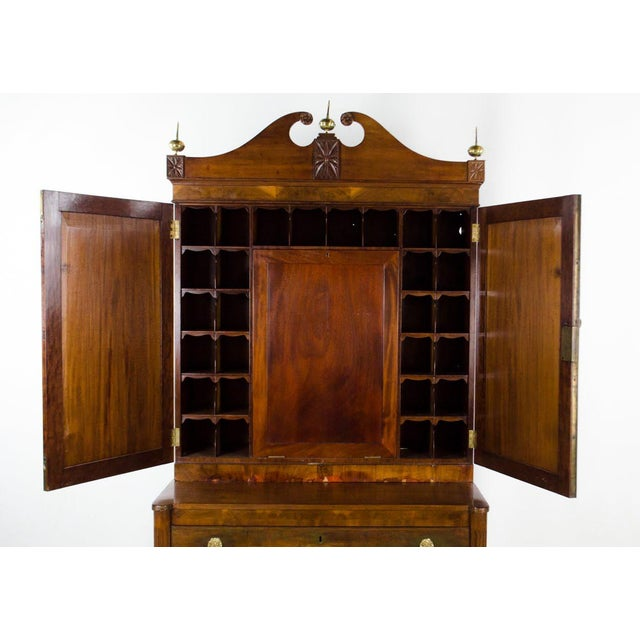 Early 19th Century Early 19th Century Antique Regency Secretary Desk For Sale - Image 5 of 13