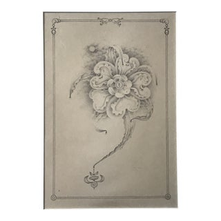 """1980s """"Magical Flower"""" Pencil Drawing by Philip Kirkland For Sale"""