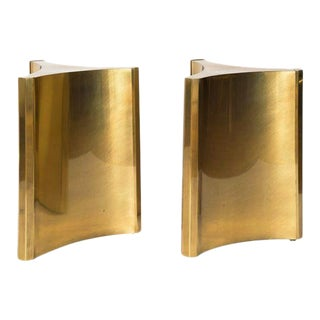 MASTERCRAFT BRASS TRILOBI DINING TABLE BASES For Sale