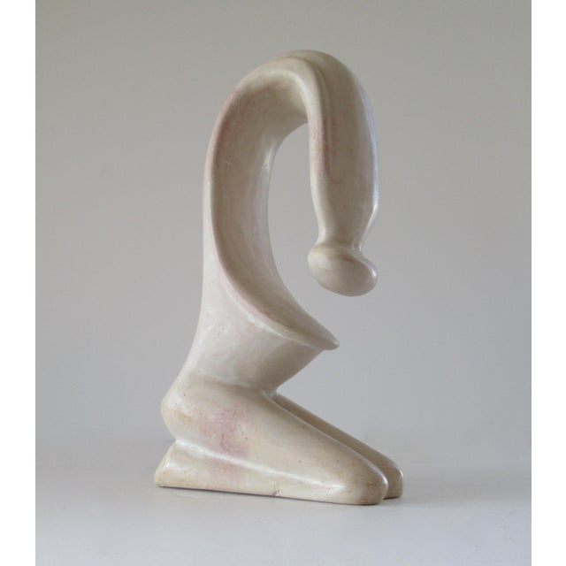 Tan Modern Organic Abstract Female Sculpture For Sale - Image 8 of 13