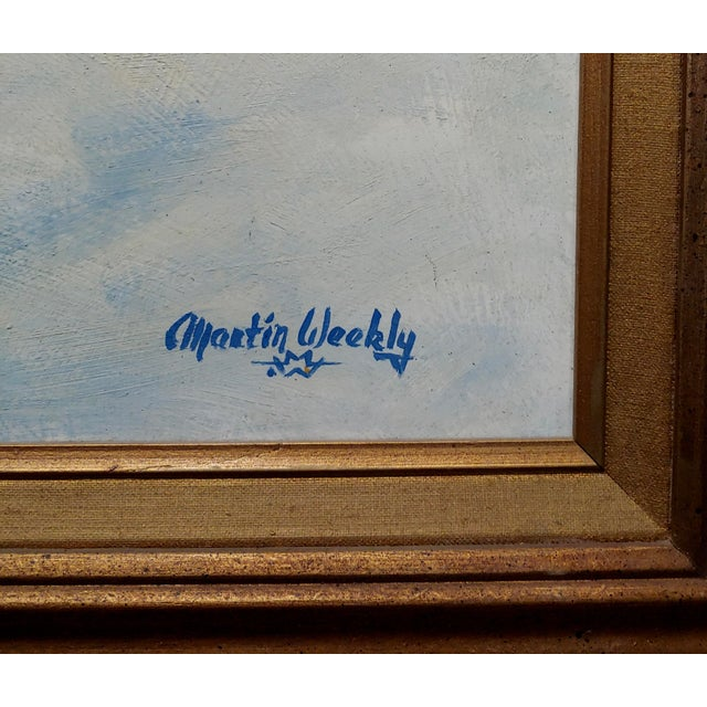 1970s Oil Painting, Cowboys on Horse by Martin Weekly For Sale In Los Angeles - Image 6 of 8