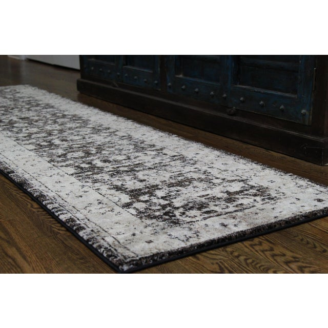 "Distressed Vintage Floral Rug - 2'8"" x 5' - Image 3 of 4"