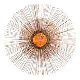 Image of Curtis Jere Copper Rod Sunburst Wall Sculpture