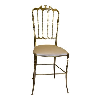 Vintage Italian Brass Chiavari Chair For Sale
