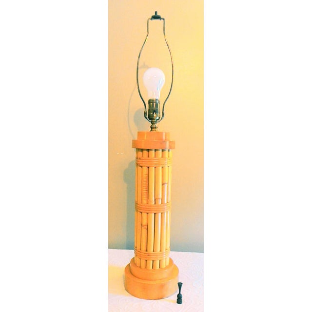 Vintage Regency Style Bamboo Lamp - Image 6 of 8