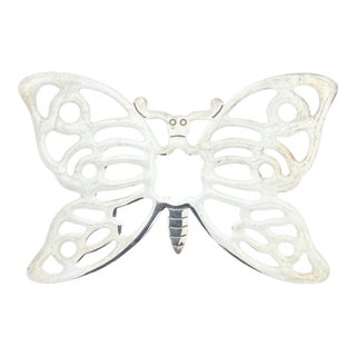 F. B. Rogers Silver Plate Butterfly Trivet For Sale