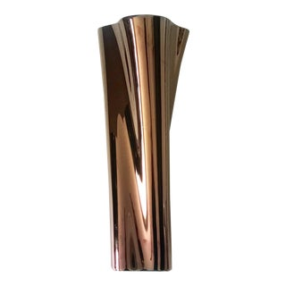 Rosenthal Studio Copper Twisted Porcelain Vase For Sale