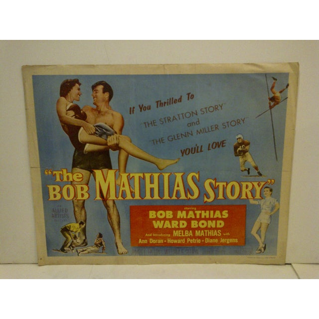 """This is a vintage movie poster (54/444) of """"The Bob Mathias Story"""" starringBob Mathias from Columbia Pictures in 1954. The..."""