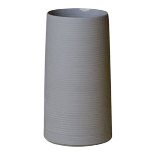 Contemporary 'Large Cold Mountain' Vase by Middle Kingdom - Steel Gray