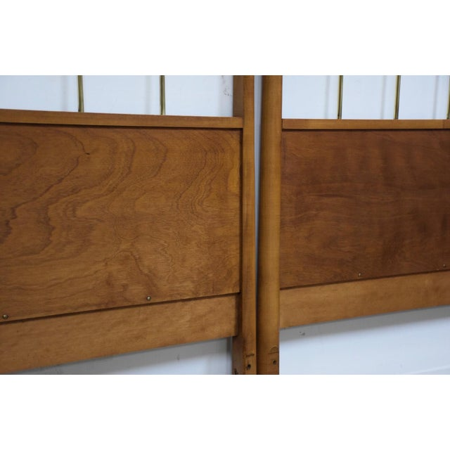 Paul McCobb Planner Group Headboards- a Pair For Sale In Boston - Image 6 of 10