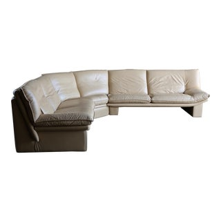 Nicoletti Salotti Modern Leather Sectional Sofa Circa 1985 For Sale