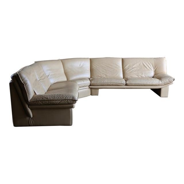 Nicoletti Salotti Modern Leather Sectional Sofa Circa 1985 For Sale