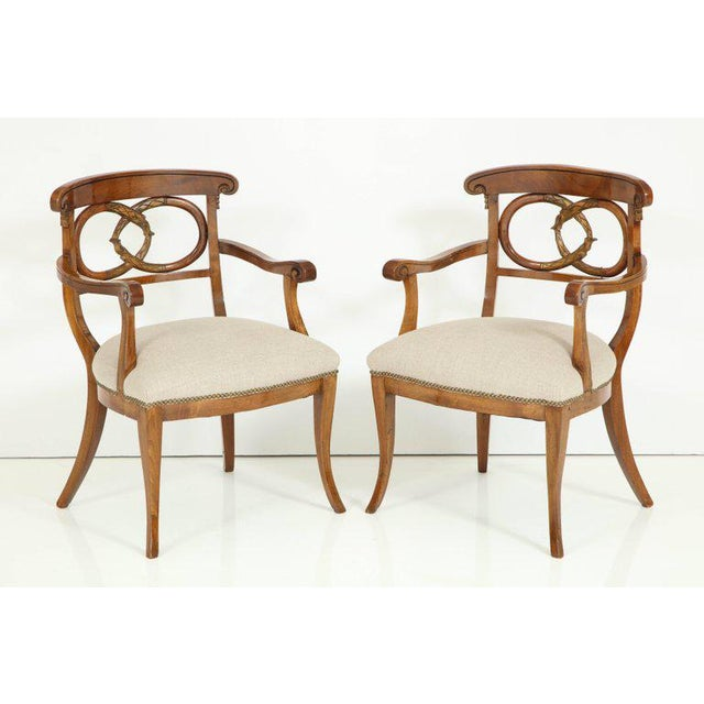 Pair of Biedermeyer Armchairs For Sale - Image 4 of 10