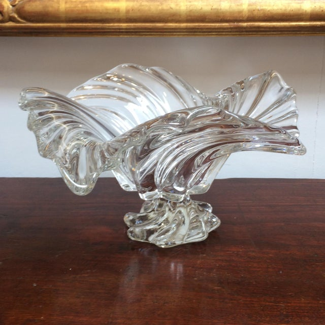 Swirl Crystal Footed Bowl Chairish