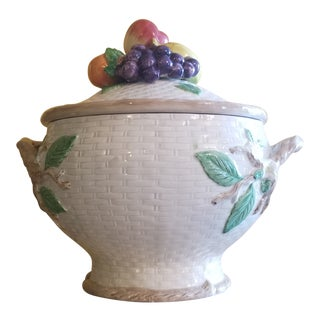 Last Call. Fitz and Floyd 1990 Fruit Decorated Large Tureen For Sale