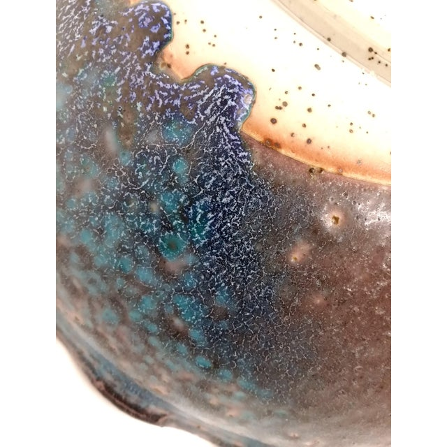 Clay Artisan Glazed Decorative Serving Bowl For Sale - Image 7 of 10