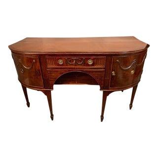 Georgian Period Demilune Sideboard or Serving Table Breakfront
