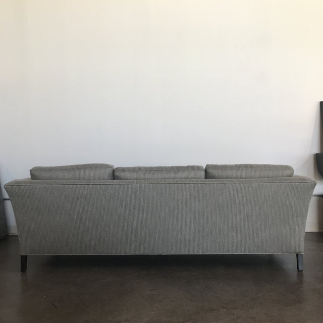 Mid-Century Modern 1970's Mid-Century Modern Drexel Heritage Newly Upholstered Gray Sofa For Sale - Image 3 of 6