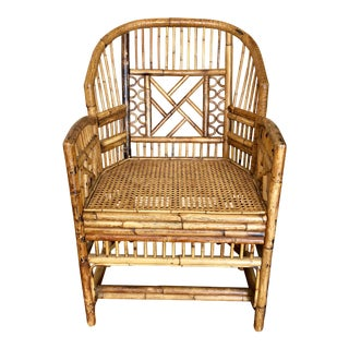 1960s Vintage Brighton Style Bamboo Chair For Sale