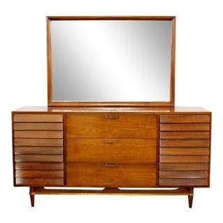 Mid Century Modern American of Martinsville Dania Gershun Walnut Dresser Mirror