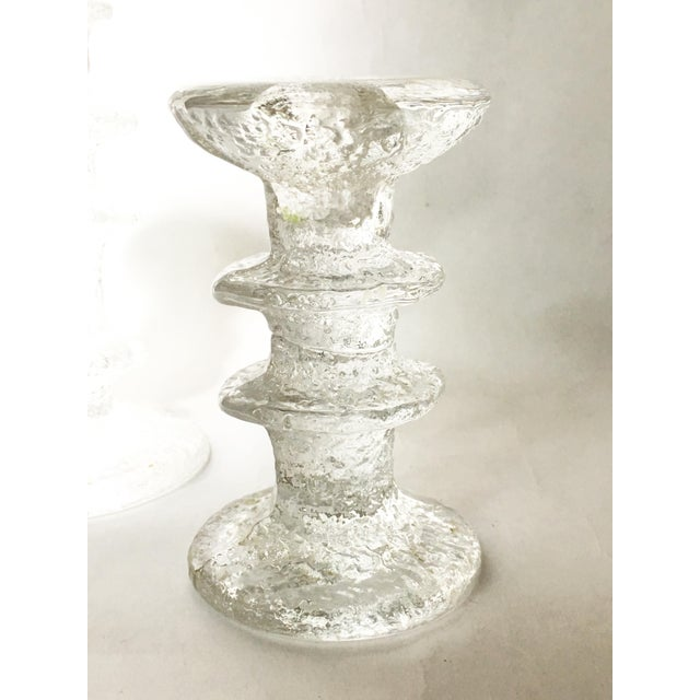 Ittala of Finland Timo Sarpeneva Glass Candle Holders - A Pair For Sale - Image 5 of 6