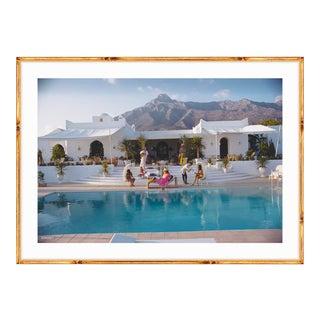 "Slim Aarons ""El Venero"" Gold Bamboo Framed Print"