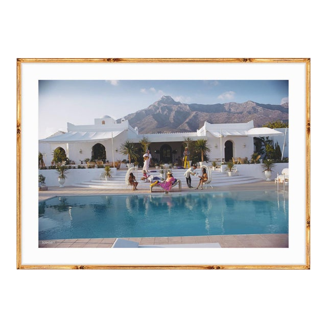 "Slim Aarons ""El Venero"" Gold Bamboo Framed Print For Sale"