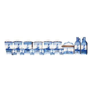 Ditmar Urbach Canister Set Delft-Style, Set of 15