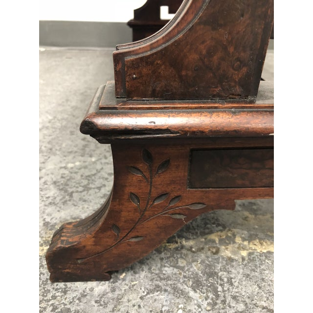 Late 20th Century Antique Wood Partners Desk / Console For Sale - Image 5  of 13 - Antique Wood Partners Desk / Console Chairish