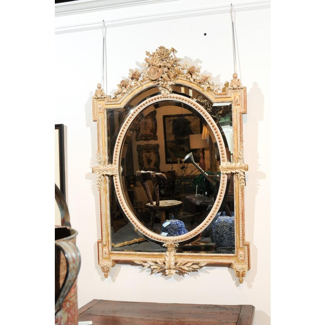Mid 19th Century French Louis XVI Style 19th Century Pareclose Mirror with Liberal Arts Symbols For Sale - Image 5 of 13