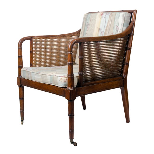 1960s 1960s Regency Hickory Chair Co. Bamboo & Cane Chair For Sale - Image 5 of 8