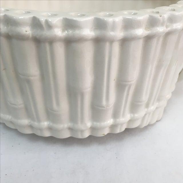 Italian Ceramic Faux Bamboo Planter - Image 4 of 7