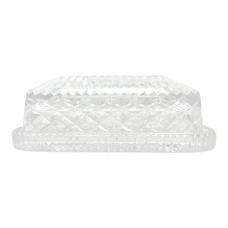 """Waterford """"Giftware"""" Crystal Covered Butter Dish For Sale"""