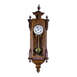 19th-Century Eclectic Regulator Wall Clock For Sale