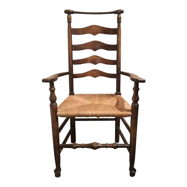 Modern Fauld Rush Chair For Sale