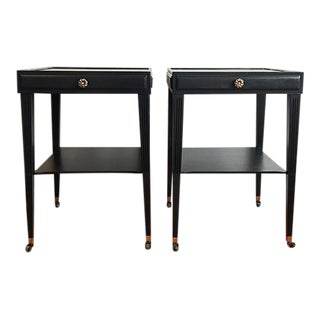 Black & Gold Side Tables - A Pair