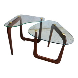 1960s Vintage Italian Z-Form Tables - a Pair For Sale