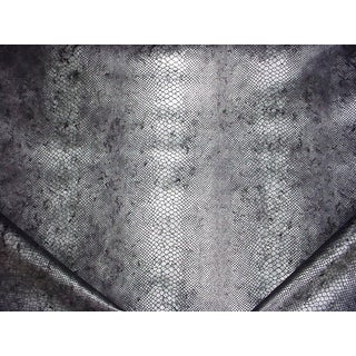 Traditional Andrew Martin Anpyst Python Steel Embossed Drapery Upholstery Fabric - 6-1/2y For Sale