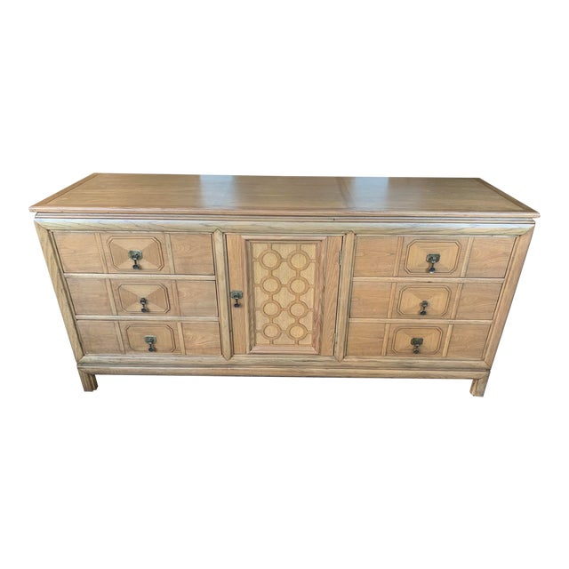 Mid Century Modern - Thomasville Large Oak Credenza For Sale