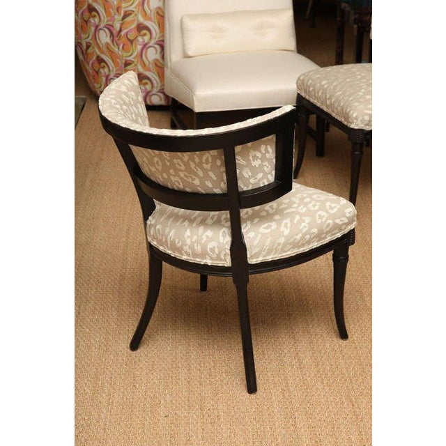 Pair of Sculptural Hollywood Regency Grosfeld House Side Chairs For Sale In Miami - Image 6 of 10