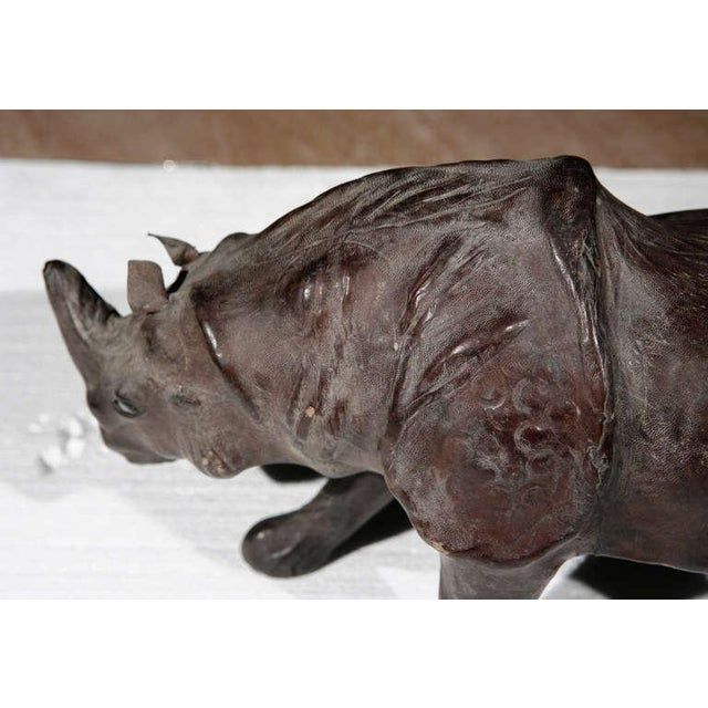Leather Rhinos Abercrombie & Fitch Style For Sale - Image 4 of 9
