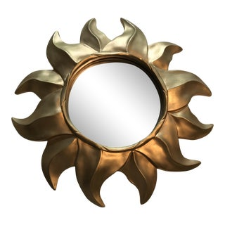 Small Gold Sunburst Wall Mirror